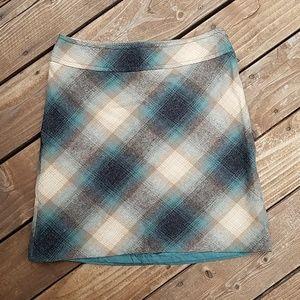 Ann Taylor Loft Wool and Rayon Blend Mini Skirt